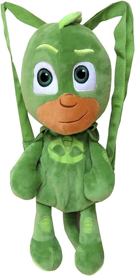 CYP- Peluche Mochila PJ Masks 3D 40, Color Verde (103MCPJ)