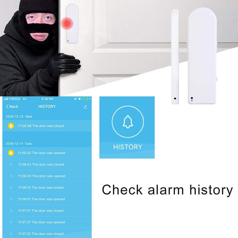 aixi-SHS Wi-Fi sensore finestra della porta APP allarme il sensore di sicurezza TuyaSmart//Smart Life APP Control alimentatore di rete USB