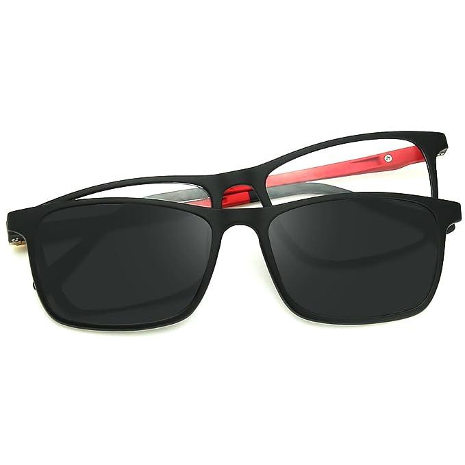 ZENOTTIC 2 en 1 Clip magnšŠtico en gafas de sol para gafas graduadas Hombres Marco flexible ULTEM gafas polarizadas en gafas para mujer: Amazon.es: Ropa y ...