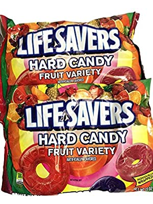 LifeSavers Hard Candy Fruit Variety - 13 oz. bag (10-Flavors May Vary) ( Pack of 2 )