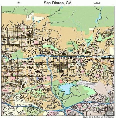 san dimas california map Amazon Com Large Street Road Map Of San Dimas California Ca