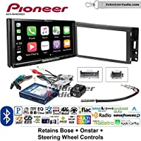 Volunteer Audio Pioneer AVH-W4400NEX Double Din Radio Install Kit with Wireless Apple CarPlay, Android Auto, Bluetooth Fits 2005-2013 Chevrolet Corvette, 2006-2009 Hummer H3 (Bose and SWC)