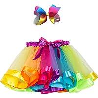 Adorel Falda de Tul Tutú Arcos de pelos Arco Iris para Niñas