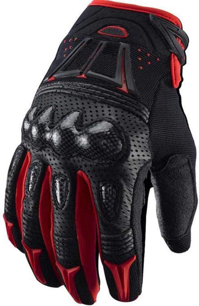 XL Rojo Wovemster Dedo Completo para Hombre de Guantes T/ácticos Para Motocicleta con Respaldo Acolchado Adecuado para Deportes al Aire Libre Motocicleta de Knight