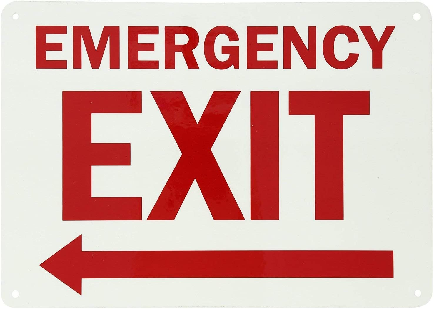 Emergency Phone With Left Arrow Aluminum METAL Sign