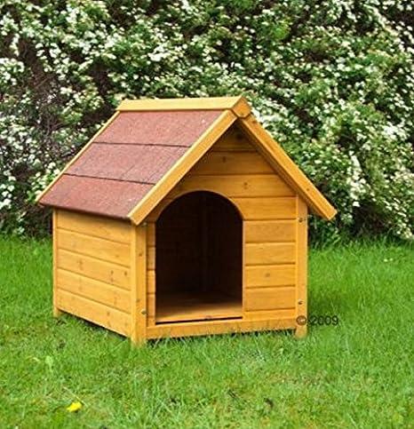 Atractivo Madera W/entrada lateral & Sealed de madera de techo de recubrimiento especial de caseta de perro ...
