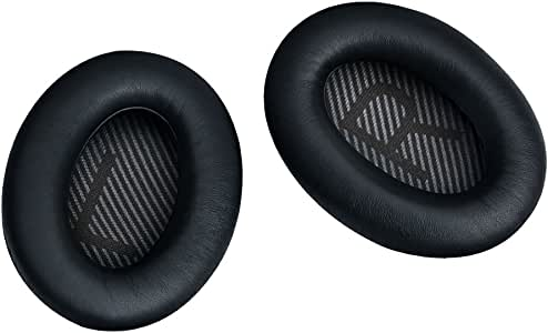 NOMACY Headphones Ear Cushion Kit Replacement for Bose Quiet Comfort 35 QC 35 Headphones Ear Pads with Memory Foam and Protein Leather for Noise Blocking and Comfortable WearingBlack