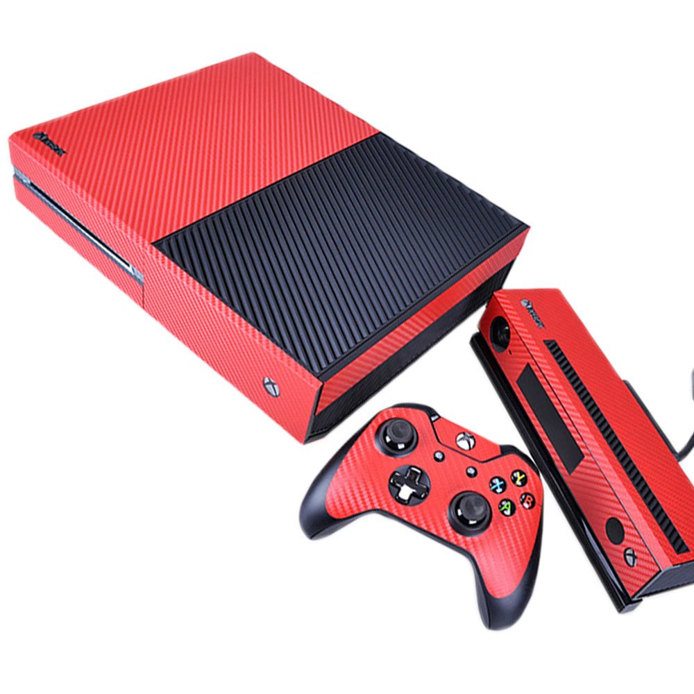 Pandaren full skin sticker faceplates for Xbox One console and controller x  2 (Carbon particles red): Amazon.co.uk: PC & Video Games