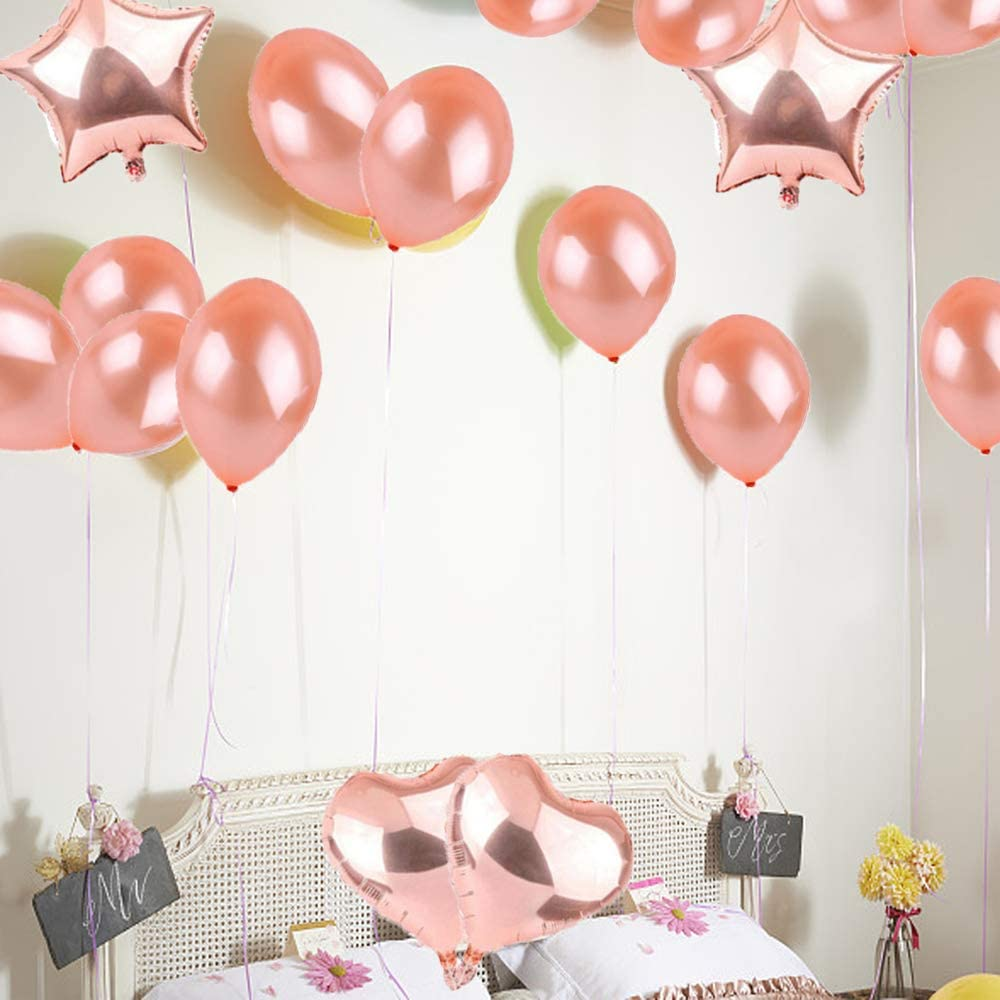 17th Birthday Decorations Party Supplies,17th Birthday Balloons Rose Gold,Number 17 Mylar Balloon,Latex Balloon Decoration,Great Sweet 17th Birthday Gifts for Girls,Photo Props