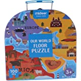 P Prettyia 約100個 世界地図 パズル ジグソーパズル 子供 おもちゃ