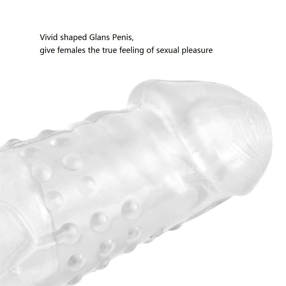 Penis Sleeve Extender, James Love 17cm Soft Penismanschette / Penishülle zur Penisverlängerung & Erektionssteigerung, Spielzeug für Männer (Transparent)