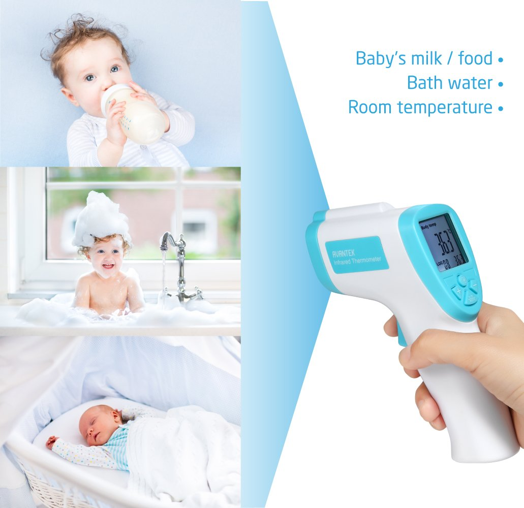 Amazon.com: AVANTEK Non-Contact Forehead Thermometer Infrared ...