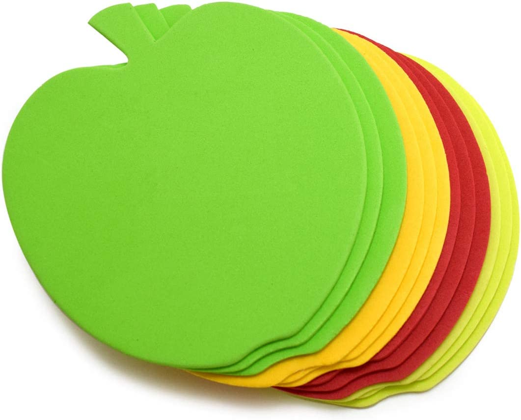"Foam Apple Cut Outs Apple Cutouts Apple Decoration Bulletin Board Cut Outs Classroom Decor Apple Decorations Back to School Cutouts Classroom Decoration 6"" Medium Large Die Cut Apples Shapes 24 Pcs"