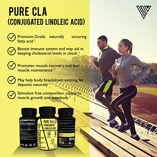 PREMIUM CLA 3K, 3000 mg, Advanced Max Strength & High Potency Formula, Natural Weight Loss Exercise Supplement, Non GMO,Gluten Free, Made in USA