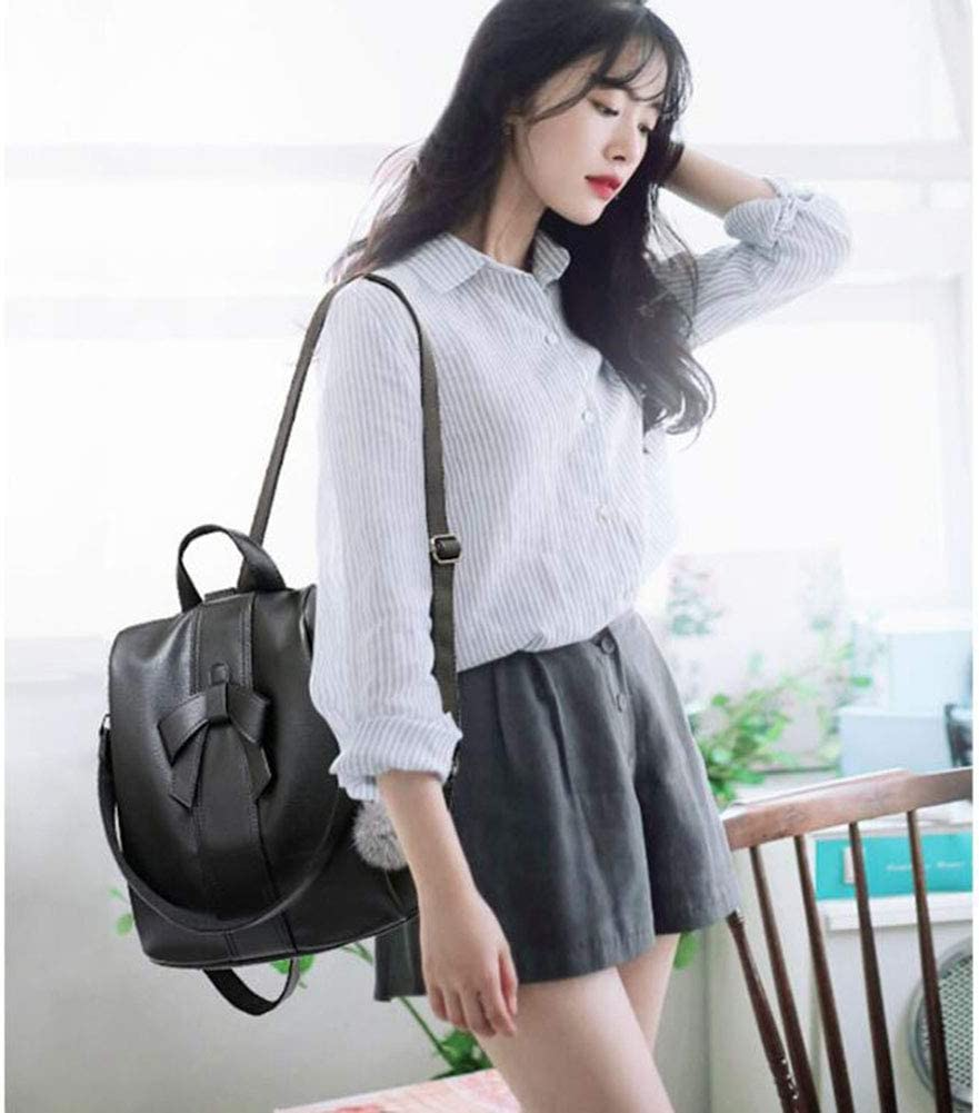 Color : Black, Size : One Size XJBHD Women Backpack Mini Soft Touch Multi-Function Small Backpack Female Ladies Shoulder Bag Girl Purse