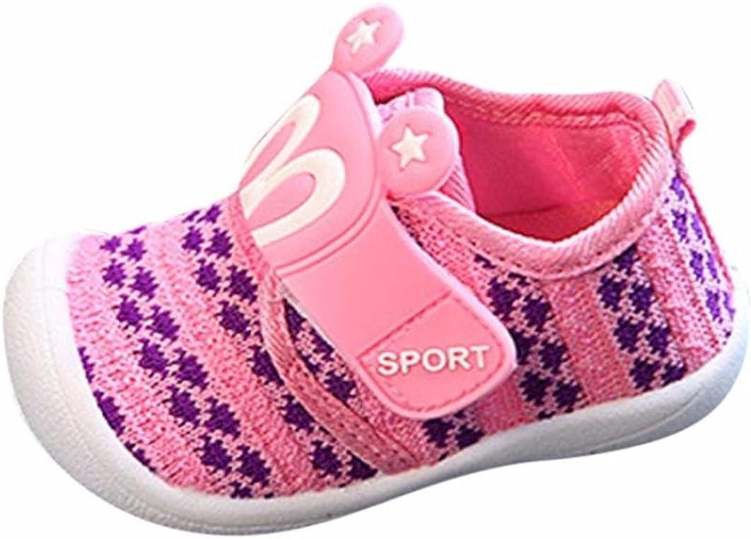 Moonker Infant Baby Cute Cartoon Star Rabbit Ears Squeaky Walking Toddler Shoes Soft Sole Anti-Slip Sneaker 0-3Years