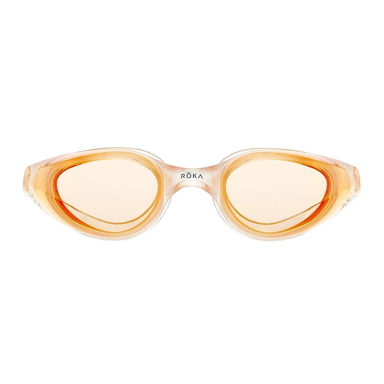 5e9c1bb6762 Amazon.com   ROKA R1 Anti-Fog Swim Goggles with RAPIDSIGHT Razor Sharp  Optics 2018 - Amber Mirror   Sports   Outdoors
