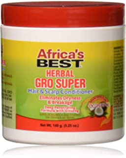 africa S Best Acondicionador, Super Gro Max 5.25 oz 157,5 ml ...