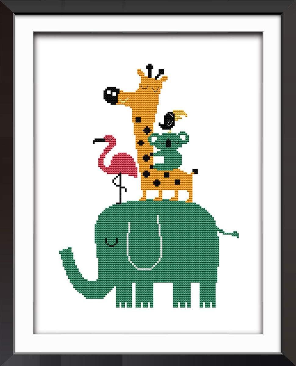 Fresh Cartoon Design 11 CT 15X 13 DIY Handmade Needlework Set Cross-Stitching Accurate Stamped Patterns Embroidery Frameless Little Whale Good Value Cross Stitch Kits Beginners Kids