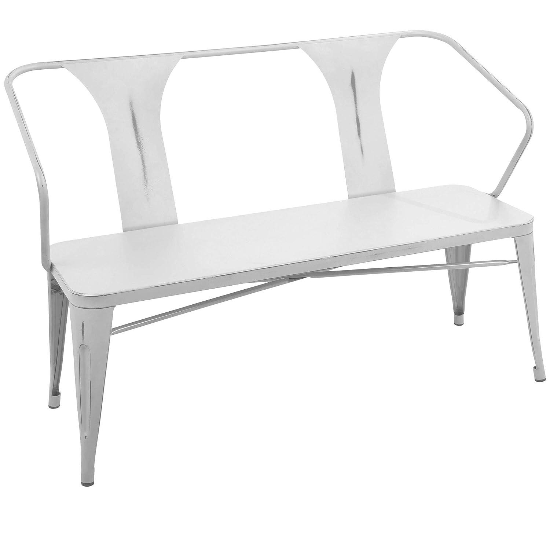 Terrific Amazon Com Lumisource Waco Industrial Bench In Vintage Theyellowbook Wood Chair Design Ideas Theyellowbookinfo
