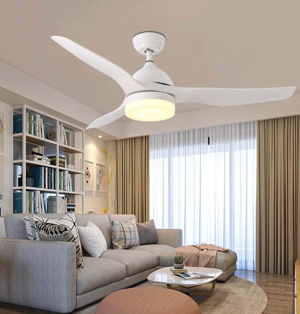 Ceiling Fan Light Modern Minimalist Living Room Bedroom Dining Room Multi-Purpose Electric Fan Light LED Chandelier,White