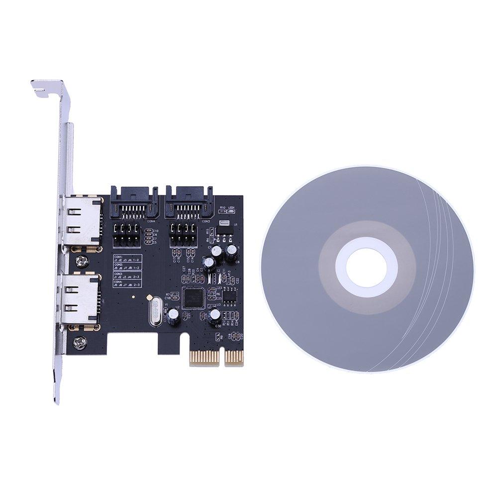 amazingdeal escritorio PCI-E a SATA3.0 tarjeta de expansión con 2 ...