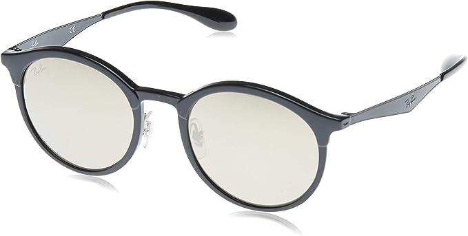 Ray-Ban Emma Non-Polarized Iridium Round Sunglasses, Black, 51 mm