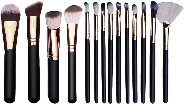 Brochas de Maquillaje, 15 piezas Pinceles de maquillaje ...