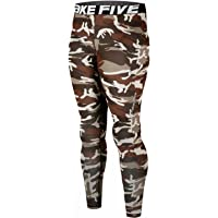 JustOneStyle New 120 Skin Tights Compression Leggings Base Layer Camo Running Pants Mens