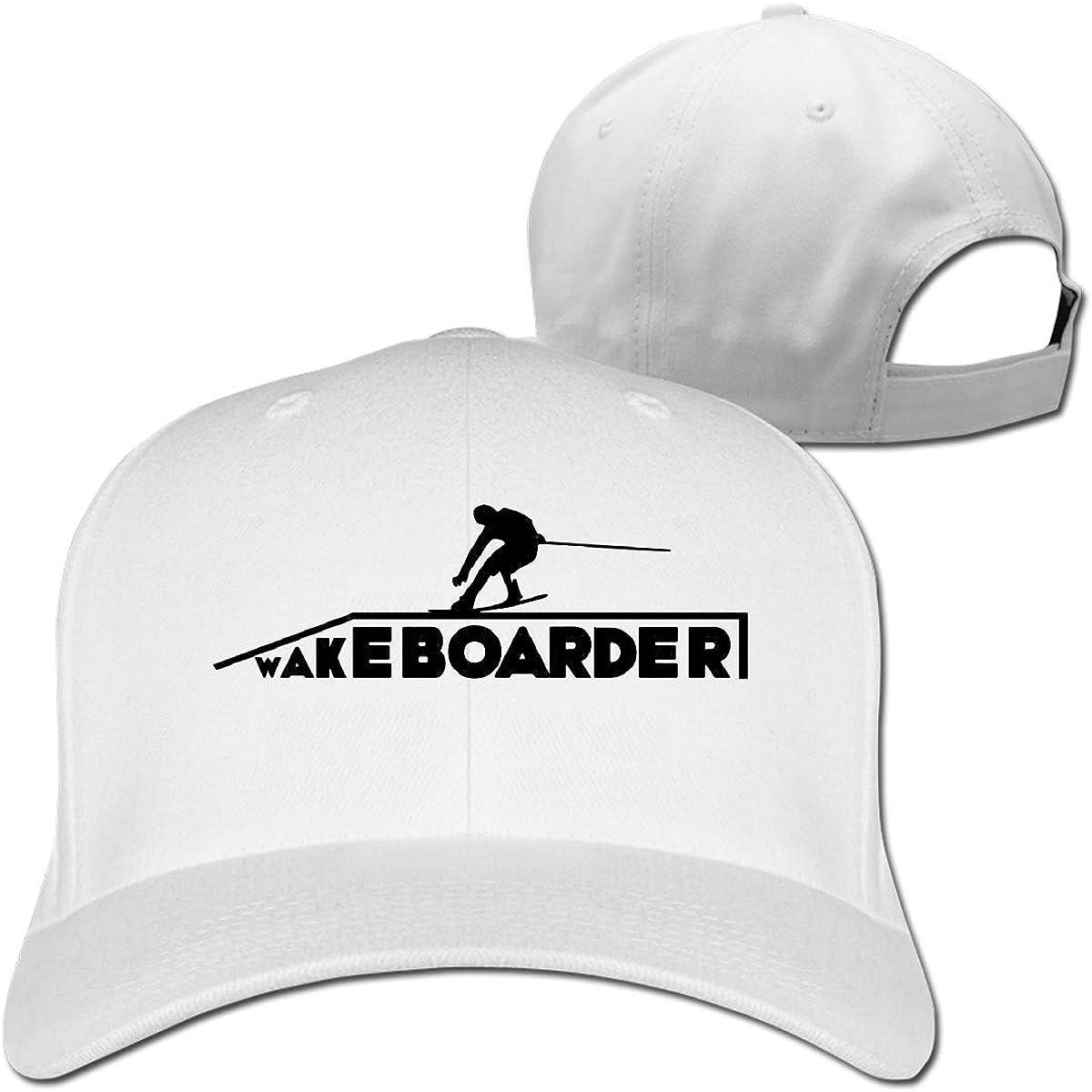Wakeboarder//Kiteboard Fashion Adjustable Cotton Baseball Caps Trucker Driver Hat Outdoor Cap White