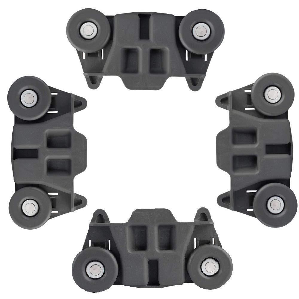 Ketofa W10195416 Lower Dishwasher Wheel Compatible Whirlpool KitchenAid Repalce W10195416VP AP5983730 PS11722152 Pack of 4 - Enhanced Durability with Steel Screws
