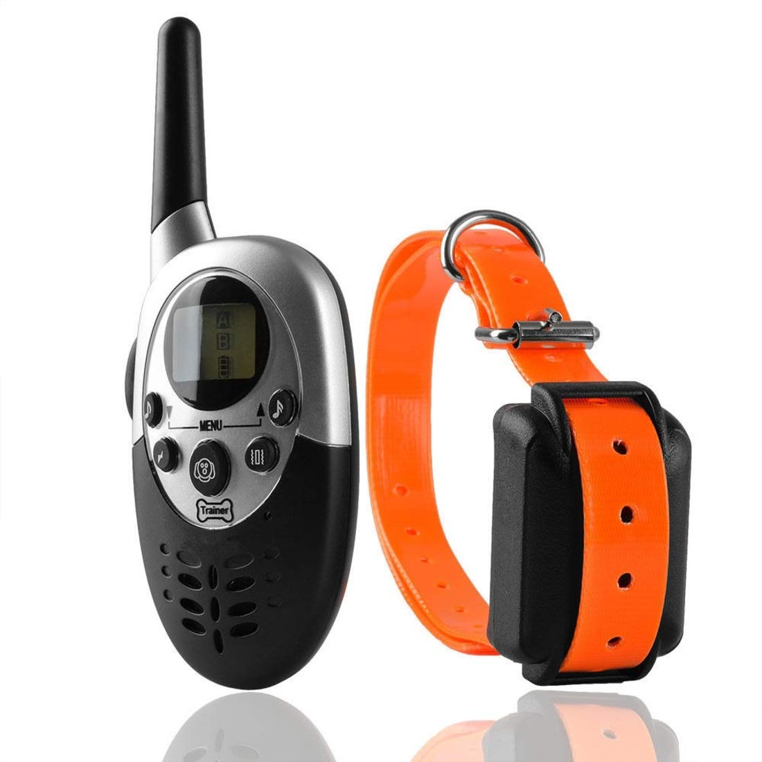 orange BAOYIT Bark Collar Small Dog Rechargeable No Shock Bark Control Device Dogs All Breeds IPx7 Waterproof (color   orange)