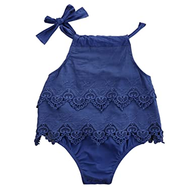bccca44ff1bc Newborn Baby Girl Infant Romper Jumpsuit Bodysuit Tutu Lace Dress Clothes  Outfit (0-3