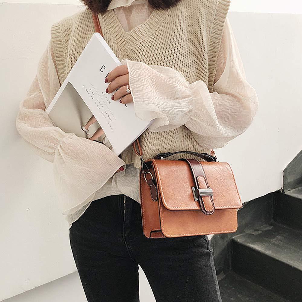 Woman Fashion Button Simple Design Shoulder Bag Messenger Bag