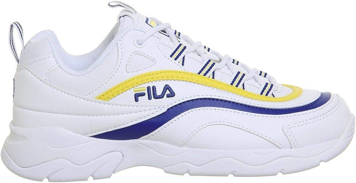 Fila Ray Mädchen Sneaker Weiß Weiß Mazarine Blau Zitrone