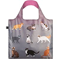 LOQI Reusable Tote Bag, Cat's Meow, One Size, LQ-CAME