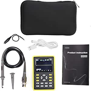 Yadianna Mini Digital Oscilloscope, Handheld USB Portable IPS LCD Multimeter Tester Tool 100MHz 500MS / s
