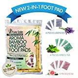 Asian Cleansing Tea - New 2-in-1 Aroma Bamboo Vinegar Foot Pads by Pure Sole Foot & Body | Premium Ingredients w/All Natural Extracts | Apply & Sleep For Best Relief & Results | 12 Pack Combo - Lavender, Green Tea & Rose