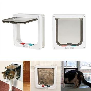 Zerone gato Tapa inteligente de gato para puerta de mascotas de puerta de gatos de puertas