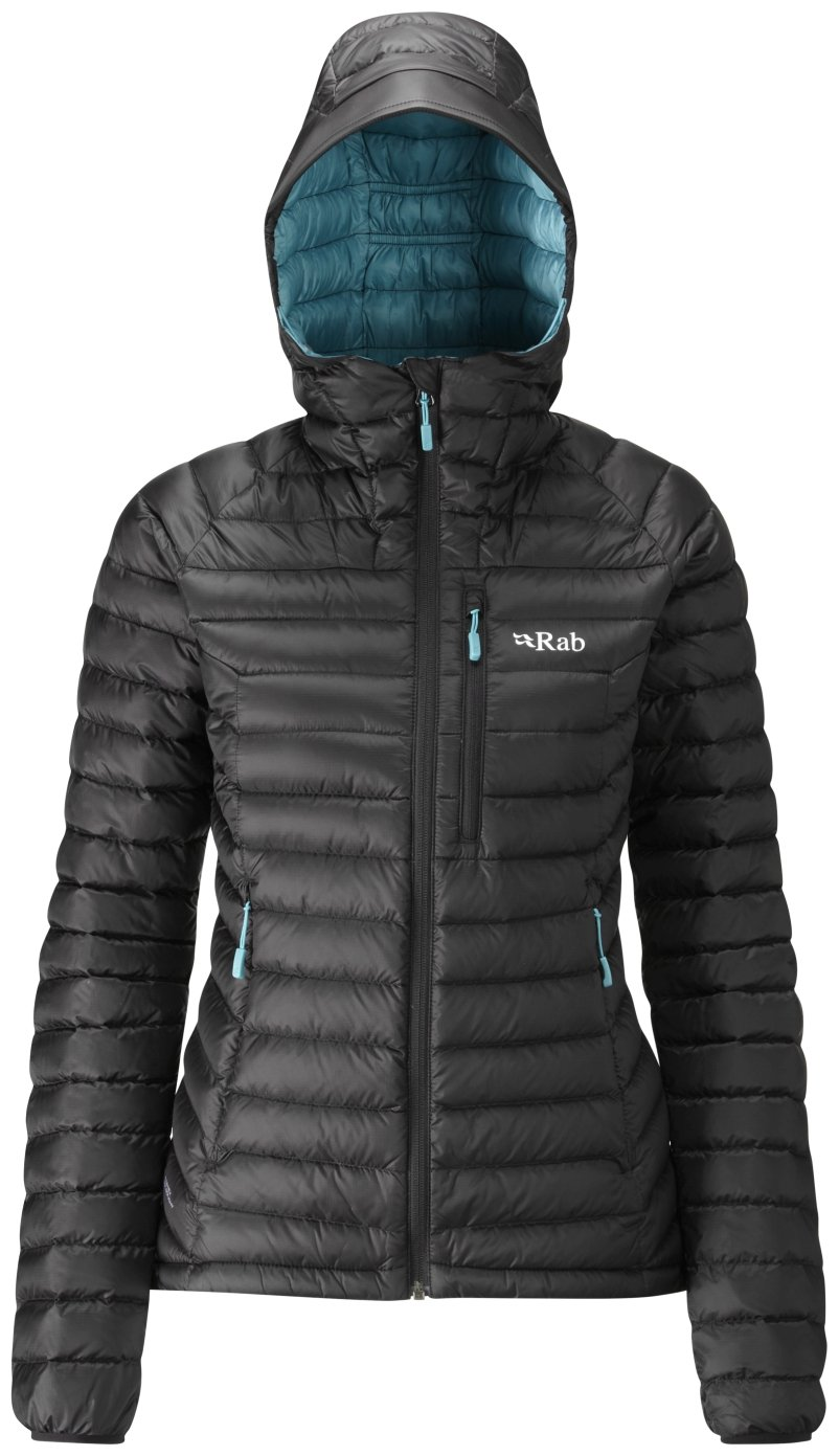 Rab Microlight Alpine Jacket - Women's Black/Seaglass X-Small