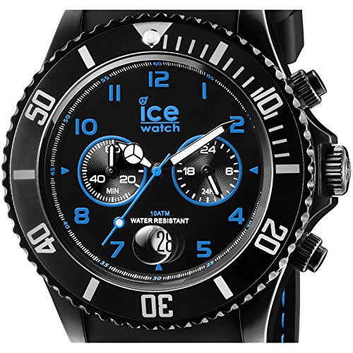 Ice-Watch herrarmbandsur XL Chrono Drift blue kronograf kvarts silikon CH.BBE.B.S.14