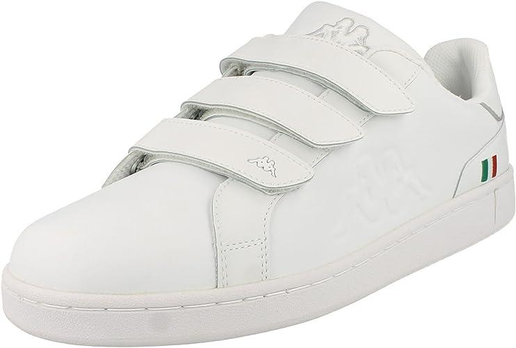 límite evidencia Moler  Mens Kappa Velcro Strap Trainers - Synthetic - White - UK Shoe Size 11:  Amazon.co.uk: Shoes & Bags