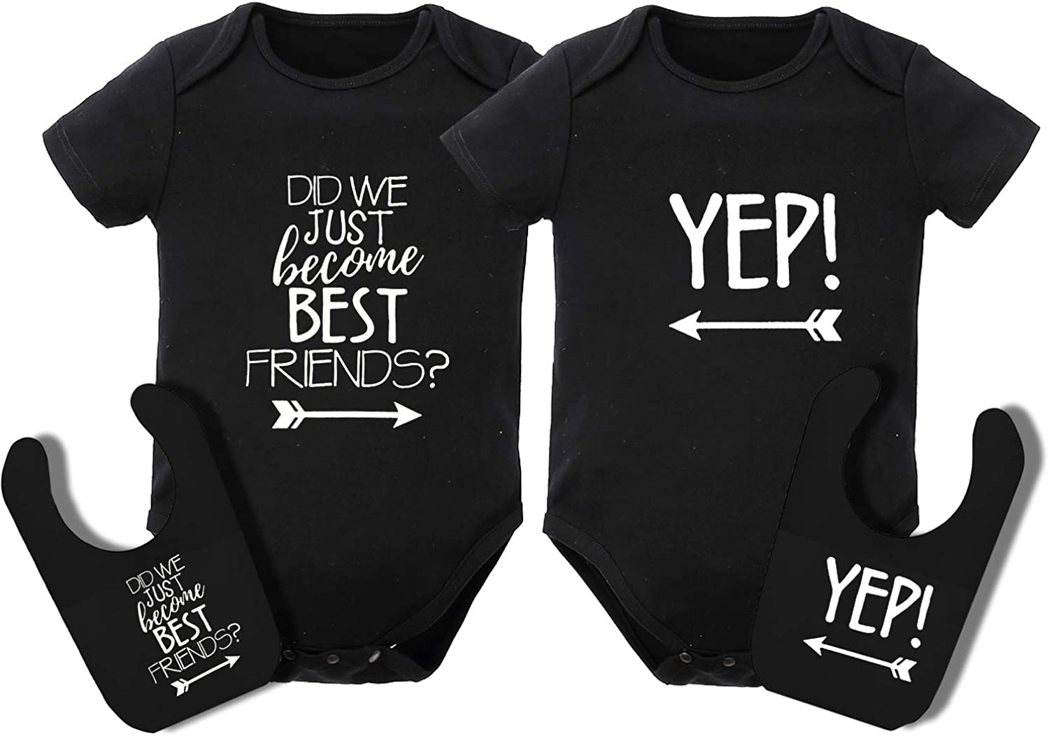 Did we just become best Friends ideal Gift T-shirts Vest,Bibs SET OF 2 items