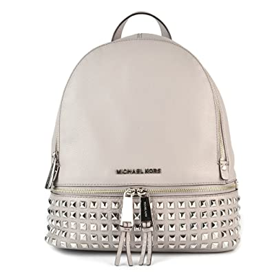 80e535516dc0fb MICHAEL Michael Kors Rhea Zip Studded Pearl Grey Backpack one size Pearl  Grey