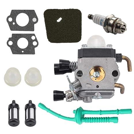 Carburador Para STIHL FS55R FS55RC FS55 KM55 HL45 KM55R FS38 Con ...