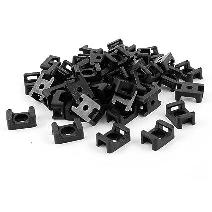 Amazon.com: Plastic Wire Buddle Cable Tie Mount Saddle 9mm 100pcs ...