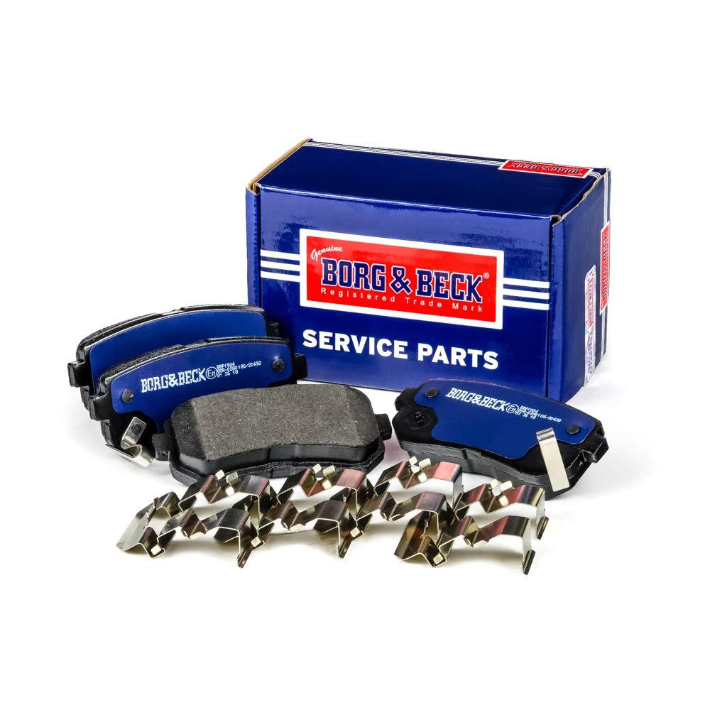 Mando Borg /& Beck BBP1924 Rear Brake Pads Includes Wear Indicators//Leads