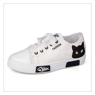 Amazon.com: Zapatillas de lona para mujer 2019 con dibujos ...