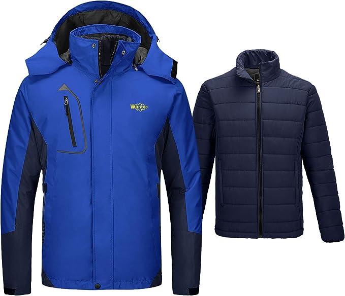 Wantdo Womens Winter Waterproof Ski Jacket Mountain Snow Windproof Rain Coat