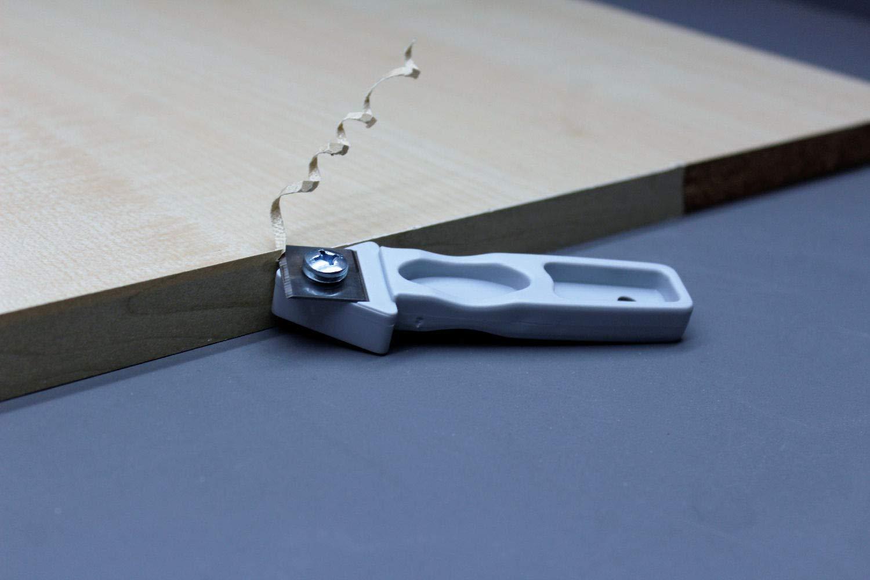 Bande de placage M/élamine 45 mm x 5 m avec colle thermo-fusible d/écor d/écor en acier inoxydable